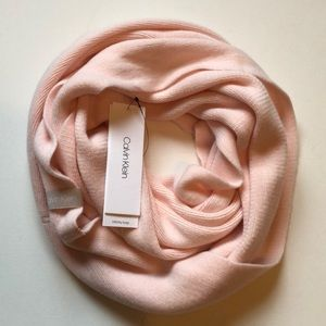 Calvin Klein pink infinity scarf